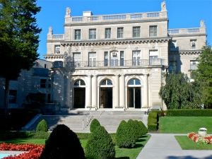 West Facade of Shadow Lawn Mansion. Taken from the Fountain Gardens.