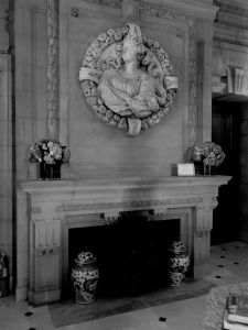 original fireplace in the entrance of Blairsden