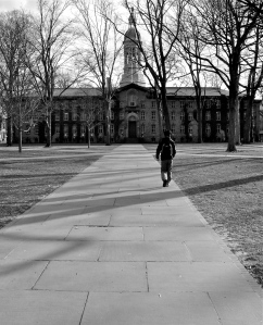 Nassau Hall (built 1756). One of America's oldest academic buildings.