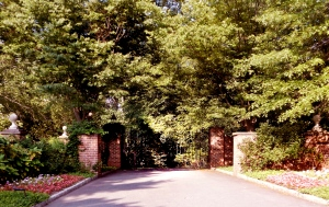 Entrance to hidden $10MM Princeton estate.