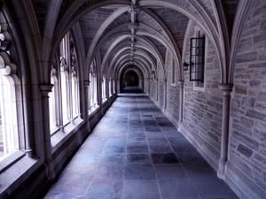 Corridor at Princeton University.