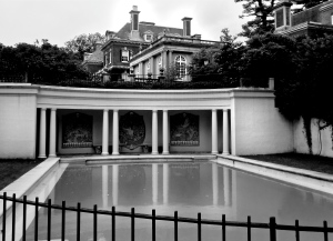 Westbury House pool and changing quarters.