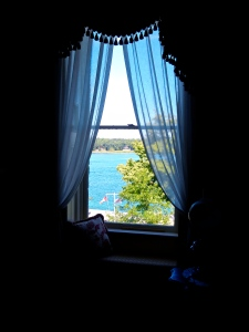 Bedroom view of the St. Lawrence River.