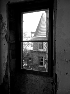 Upper tower- Looking out from unfinished bedroom.