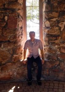 Matthew J. Niewenhous sitting in Dovecote.