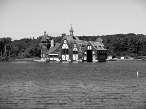 the Boldt family yacht house on Wellesley Island, New York.