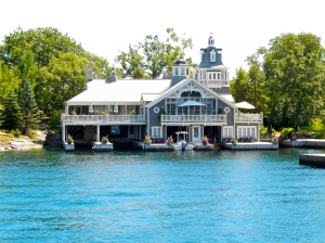 Beautiful Alexandria Bay home with attached parking for boats.