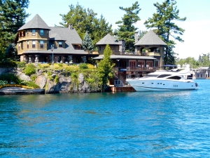 Alexandria Bay mansion and yacht.