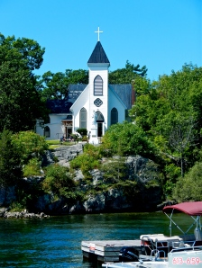 Rockport church on Canadian side of the St. Lawrence River.