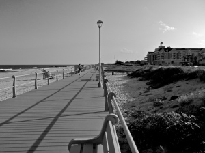 The boardwalk looking towards the Essex and Sussex Hotel