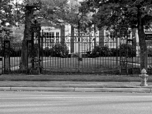 The original gate of the Ballingarry Mansion.
