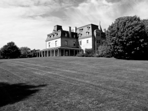Southeast lawn of the estate.