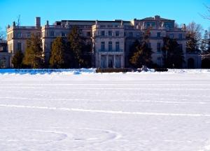 South facade of Shadow 90,000 sqft Shadow Lawn Mansion.