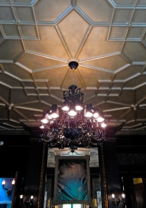 Billiard Room black crystal chandelier