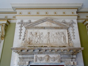 Mantle of Entrance Hall fireplace