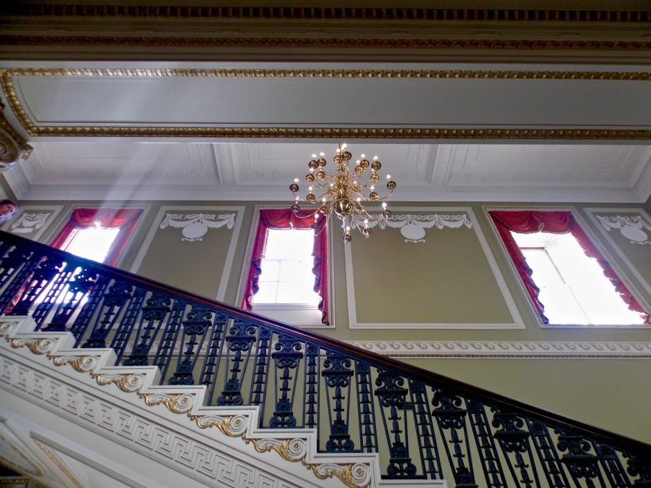 Main stairwell from first to second floor